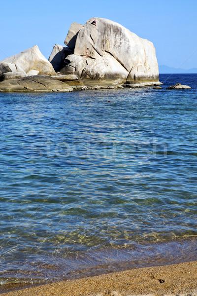 Ázsia tengerpart nagy kövek hab Thaiföld Stock fotó © lkpro