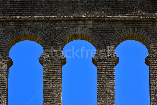 old window and wall in plaza de toros Stock photo © lkpro