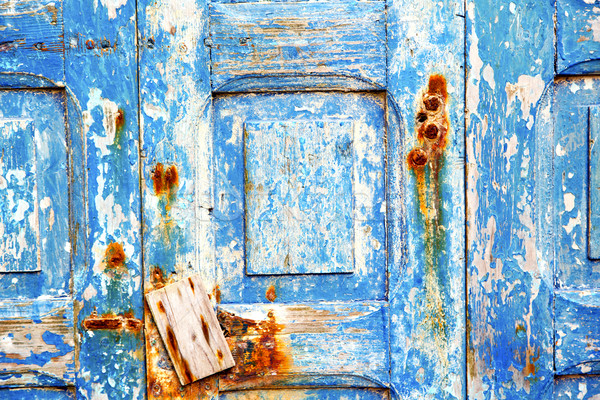 stripped paint in  rusty nail Stock photo © lkpro