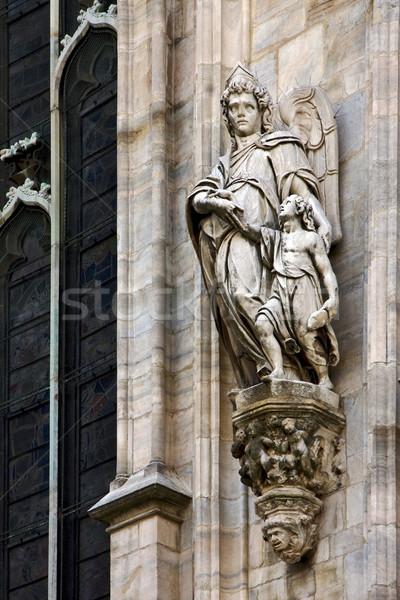 Engel kind koepel venster god standbeeld Stockfoto © lkpro