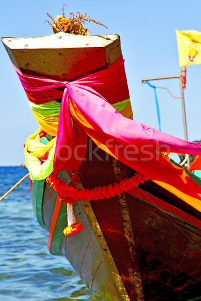 boat prow asia   tao bay isle white  beach    Stock photo © lkpro