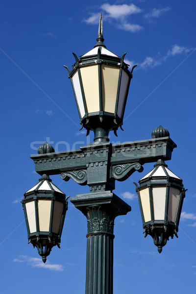 old green street lamp and clouds  Stock photo © lkpro