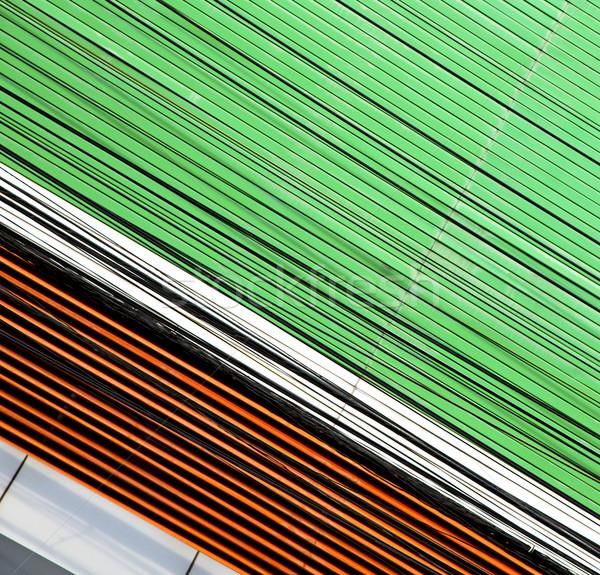 Abstract metaal groene Bangkok tempel Thailand Stockfoto © lkpro