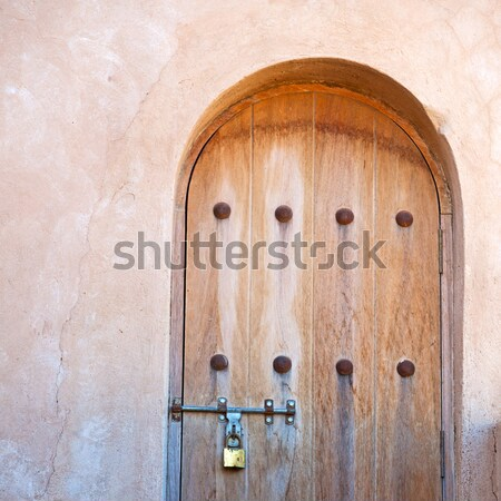 historical in  antique building door morocco style africa   wood Stock photo © lkpro