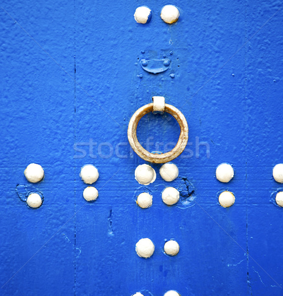 blue  in texture wall and  morocco africa abstract Stock photo © lkpro