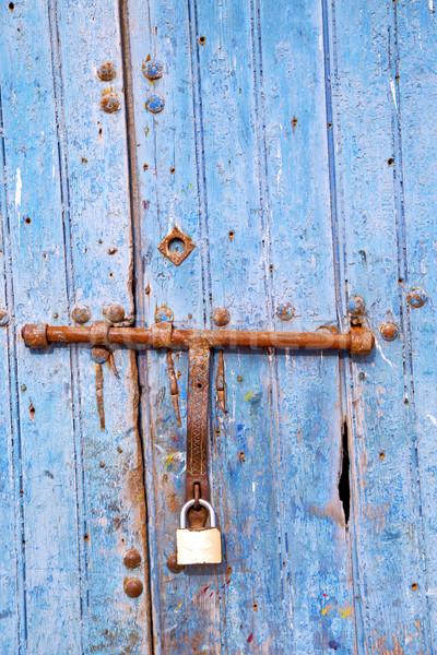 Roestige metaal nagel vuile Marokko verf Stockfoto © lkpro