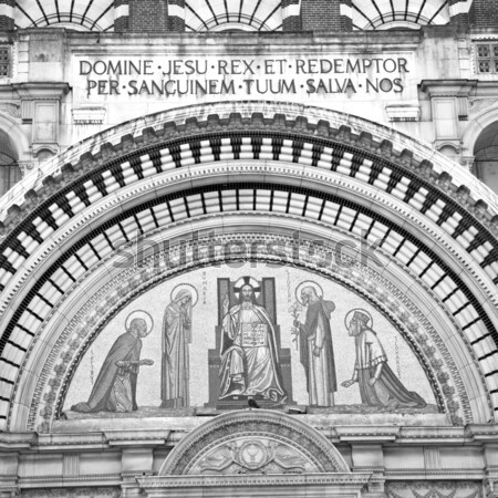 Porta westminster catedral Londres inglaterra velho Foto stock © lkpro
