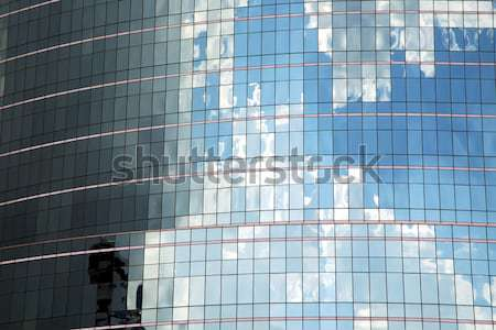 asia bangkok  thailand   skyscraper in a window     centre   Stock photo © lkpro