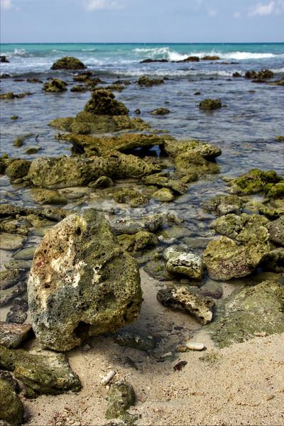 Plaj kaya taş kabin su doğa Stok fotoğraf © lkpro
