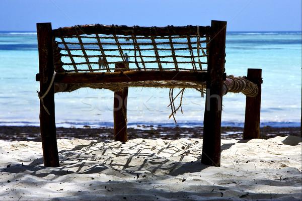 bench rope beach  in zanzibar  Stock photo © lkpro
