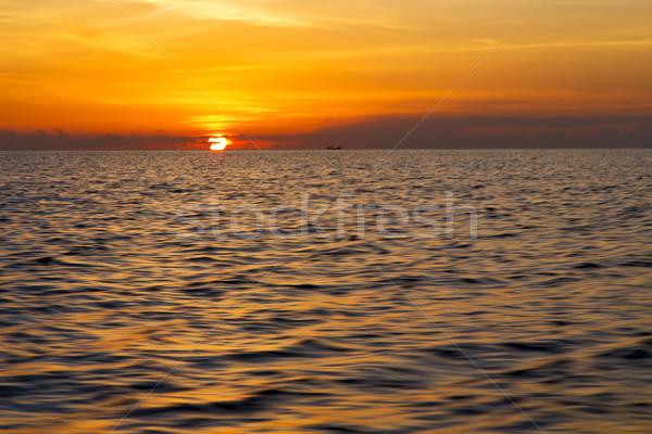sunrise boat  and sea in thailand kho south china sea Stock photo © lkpro