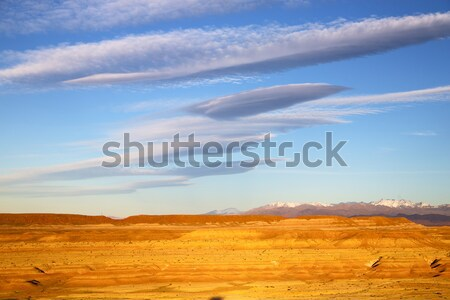 hill africa in morocco   historical village brick wall Stock photo © lkpro