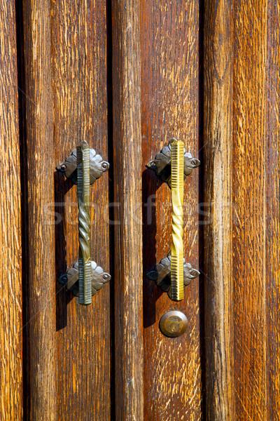 Rouillée flou résumé laiton brun porte Photo stock © lkpro