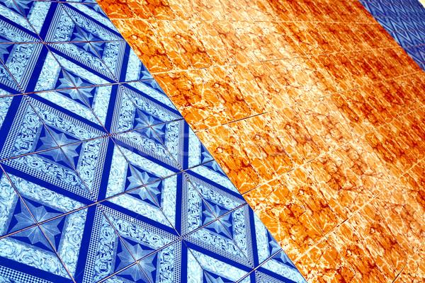 Asia Thailand abstract kruis textuur vloer Stockfoto © lkpro