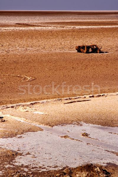 車 サハラ砂漠 砂漠 砂 雲 だけ ストックフォト © lkpro