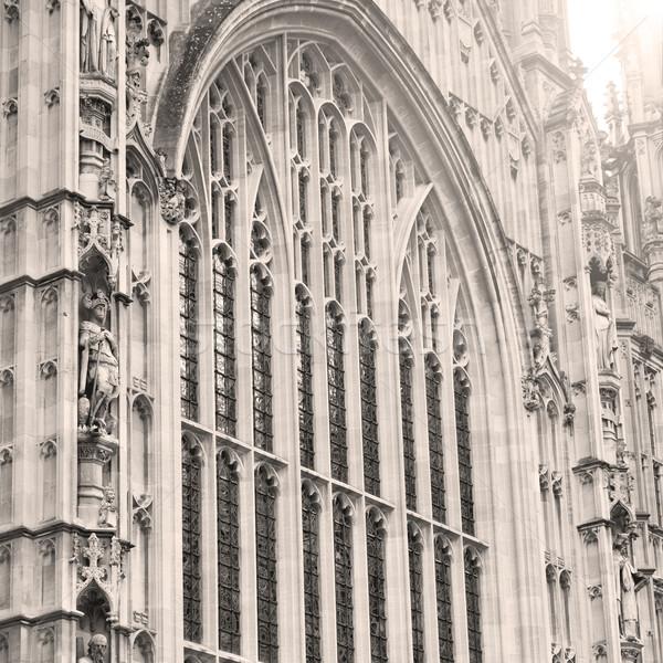 Eski Londra tarihsel parlamento cam pencere Stok fotoğraf © lkpro