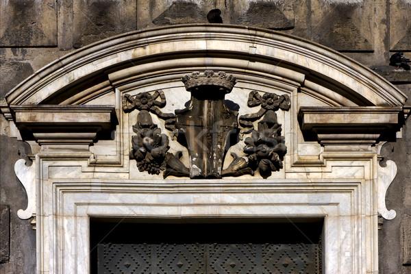 коричневый ворот Церкви древесины искусства зеленый Сток-фото © lkpro