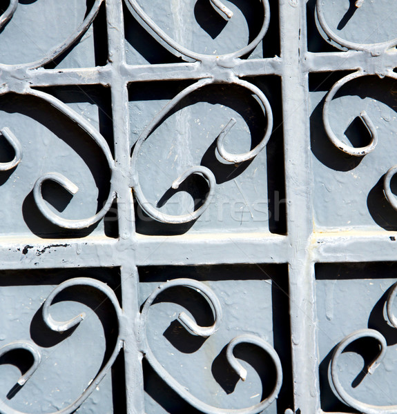 Cinza metal enferrujado Marrocos África madeira velha Foto stock © lkpro