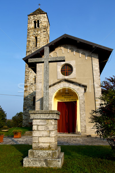 barzola in  the old   church  closed brick tower    lombardy   Stock photo © lkpro