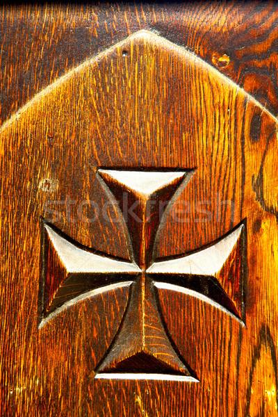 castellanza blur  closed wood italy   cross Stock photo © lkpro
