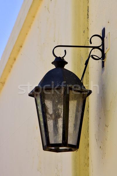 street lamp  and a yellow wall Stock photo © lkpro