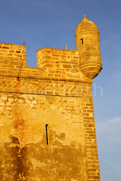 Tijolo velho construção África Marrocos torre Foto stock © lkpro