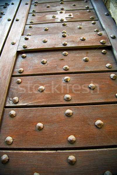 cross lombardy   arsago   rusty brass brown   closed wood   Stock photo © lkpro