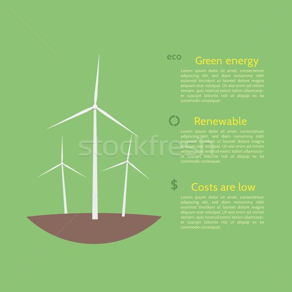 экология плакат природы фон земле Сток-фото © logoff