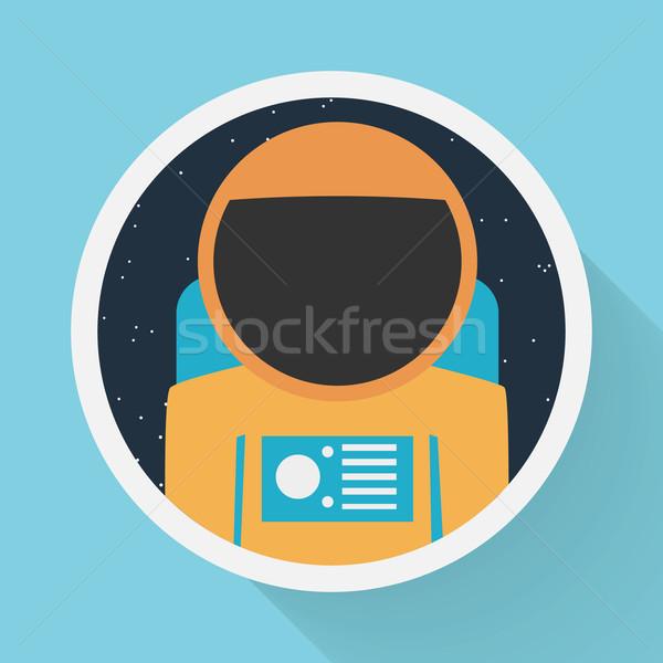 астронавт портрет бизнеса дизайна игрушку цифровой Сток-фото © logoff