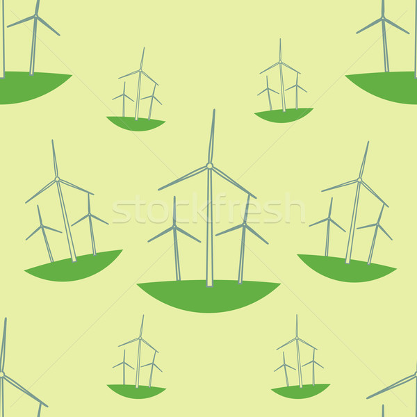 Zöld ökológia végtelen minta technológia művészet ipari Stock fotó © logoff