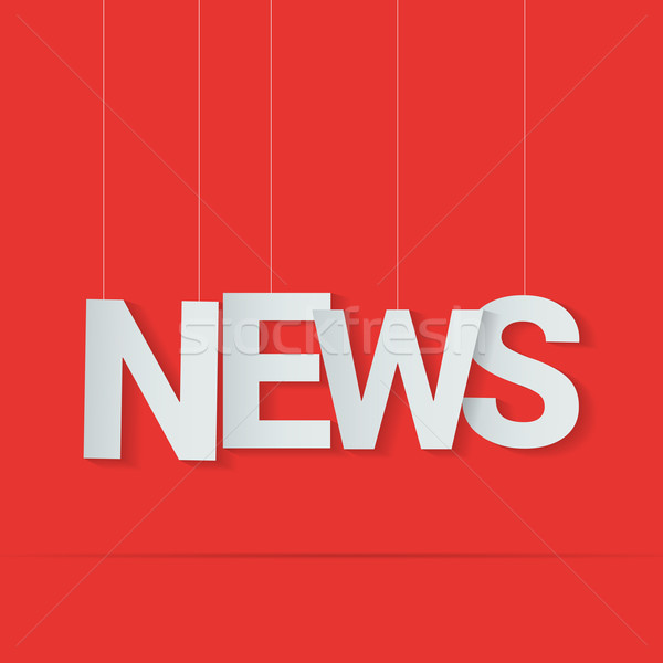 News word hanged on strings. Vector illustration Stock photo © logoff