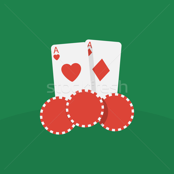 Casino cards and chips Stock photo © logoff