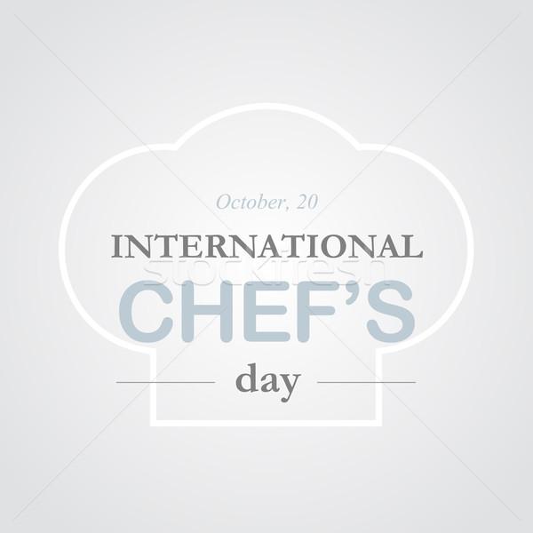 シェフ 日 食品 世界 レトロな 白 ストックフォト © logoff