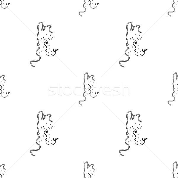 Bacteria virus seamless pattern vector illustration Stock photo © logoff