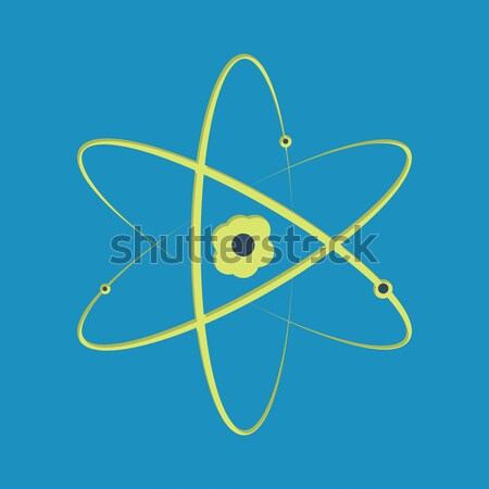 Atom illustration Stock photo © logoff