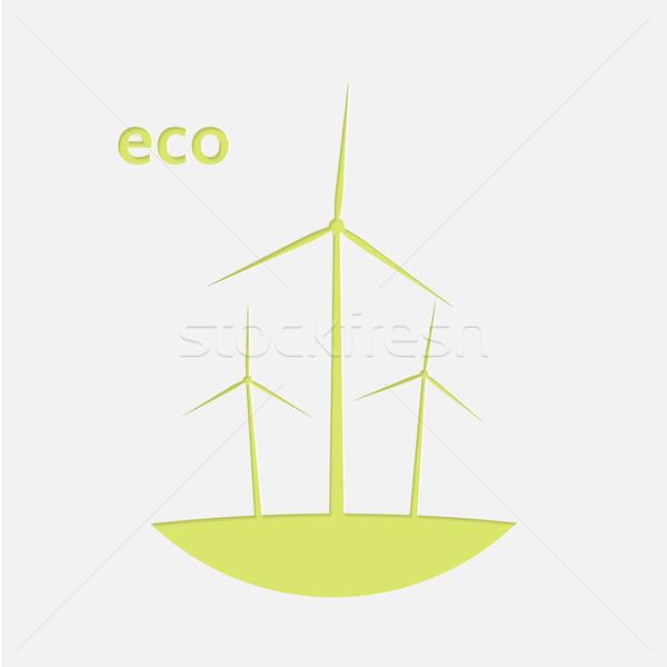 зеленый бумаги области промышленности энергии власти Сток-фото © logoff