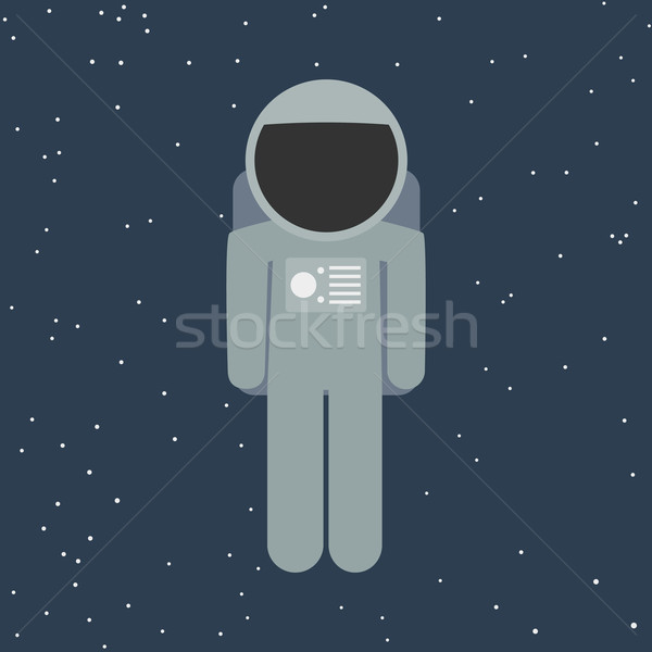 vector spaceman in flat style Stock photo © logoff