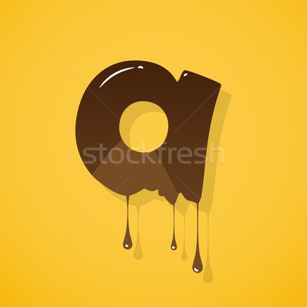 チョコレート 手紙 ベクトル 黄色 暗い 書く ストックフォト © logoff