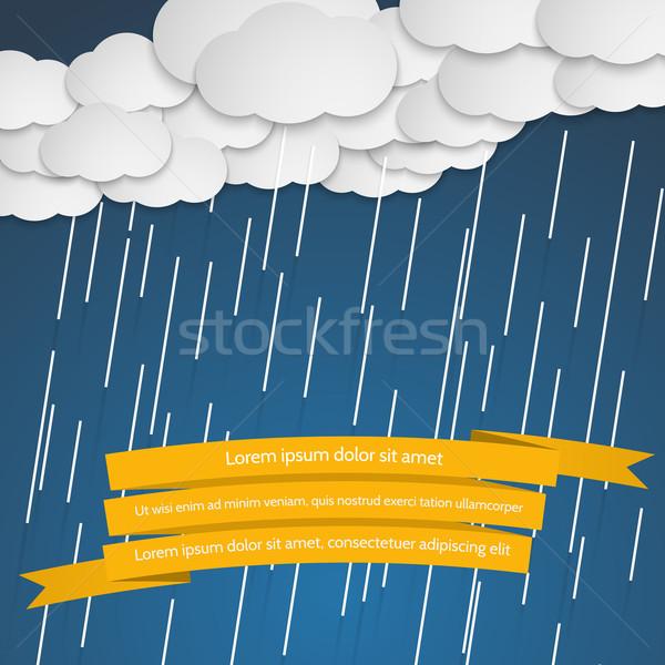 雨 雲 漫画 スタイル 自然 背景 ストックフォト © logoff
