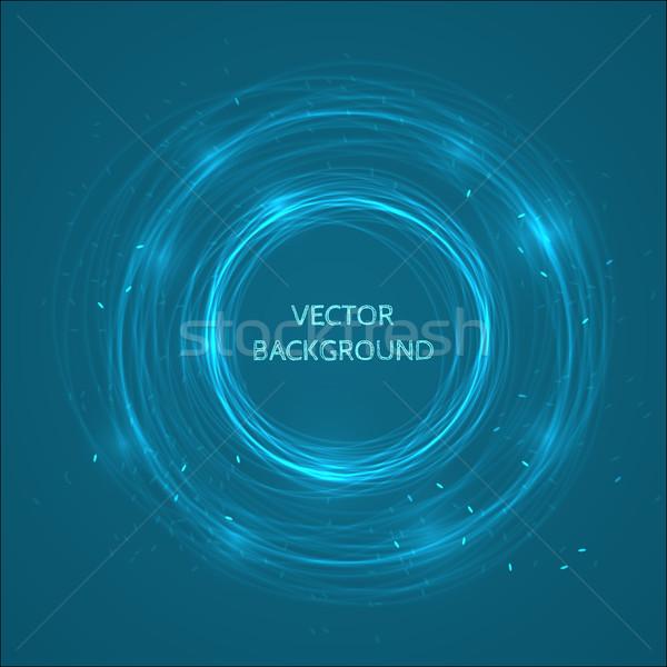 Сток-фото: аннотация · Круги · вектора · дизайна · синий · цвета