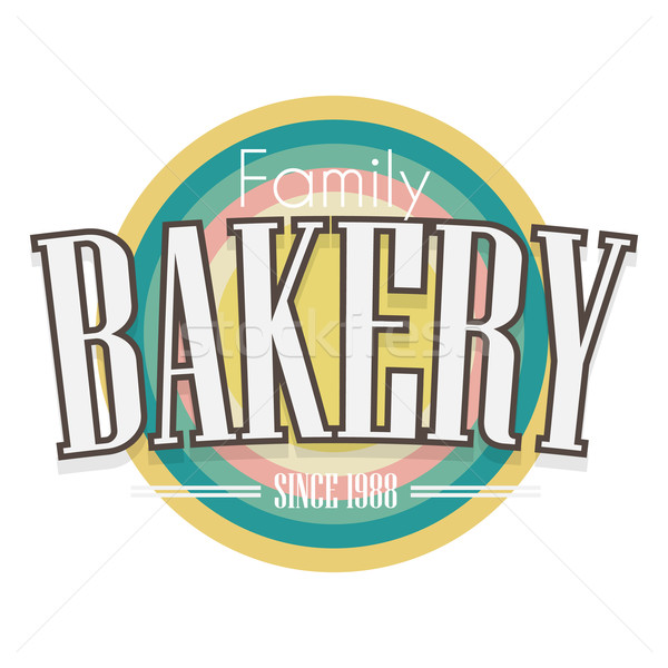 Bakery Label. Vector design. Stock photo © logoff