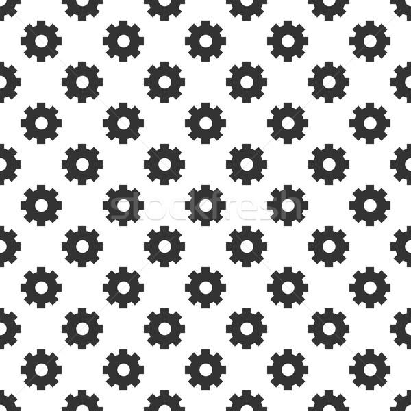 シームレス 歯車 抽象的な デザイン 技術 背景 ストックフォト © logoff
