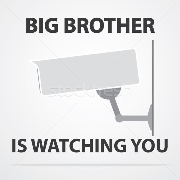 Grande hermano calle seguridad vídeo registro Foto stock © logoff