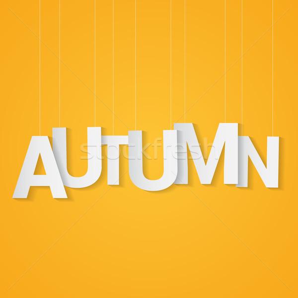 осень бумаги письма прилагается строку желтый Сток-фото © logoff