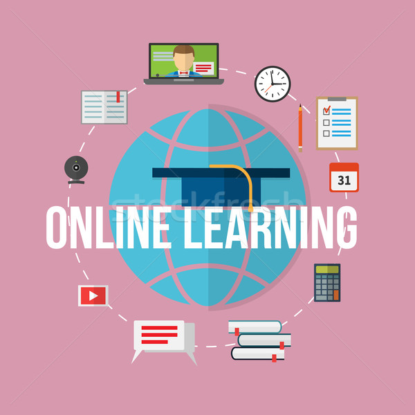 Concept for distance education, online learning. Stock photo © logoff