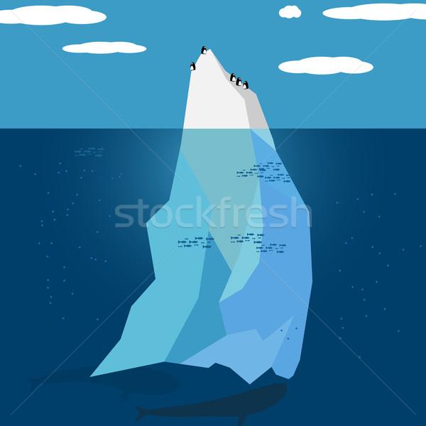 Jéghegy természet terv óceán tél kék Stock fotó © logoff