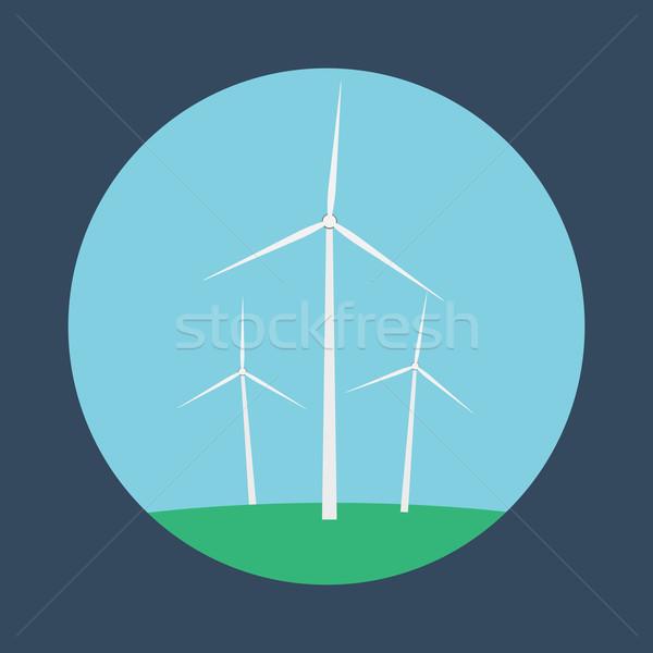 небе пейзаж технологий энергии ветер Сток-фото © logoff