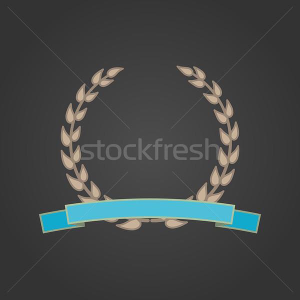 лавры венок фон пшеницы успех лента Сток-фото © logoff