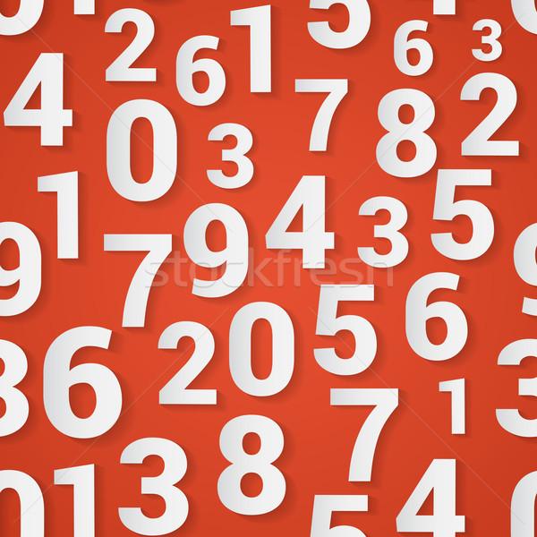Számok végtelenített vektor tapéta piros iskola Stock fotó © logoff
