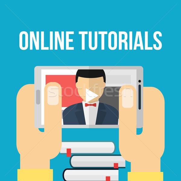 мобильных образование стороны интернет книгах дизайна Сток-фото © logoff